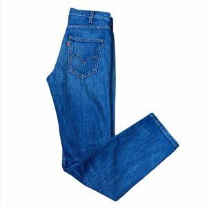Levi's Orange Tab High Rise Slim Straight Jeans
